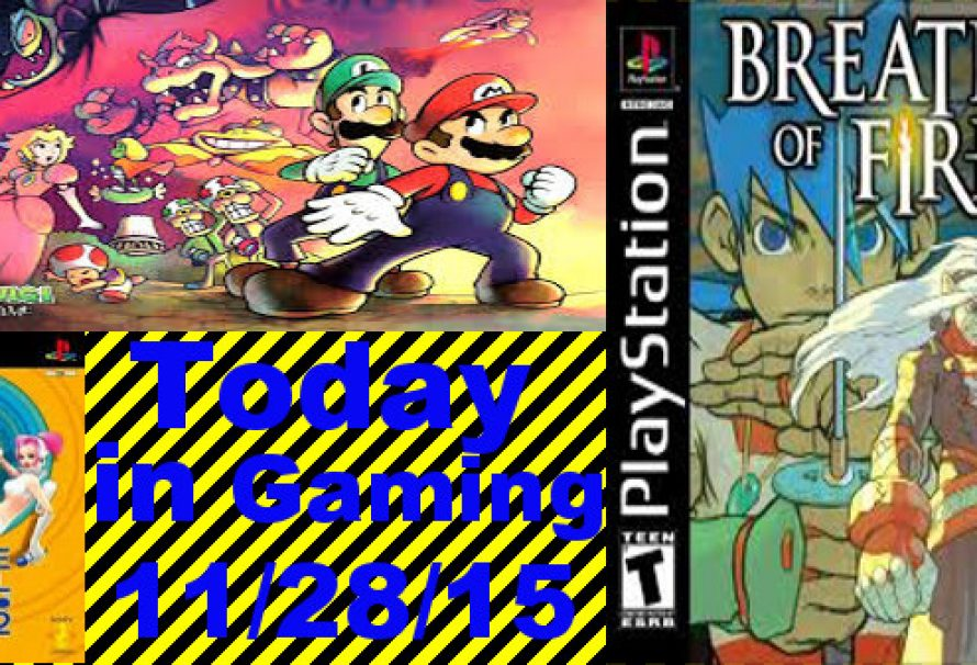 Today in Gaming – 11/28/2015