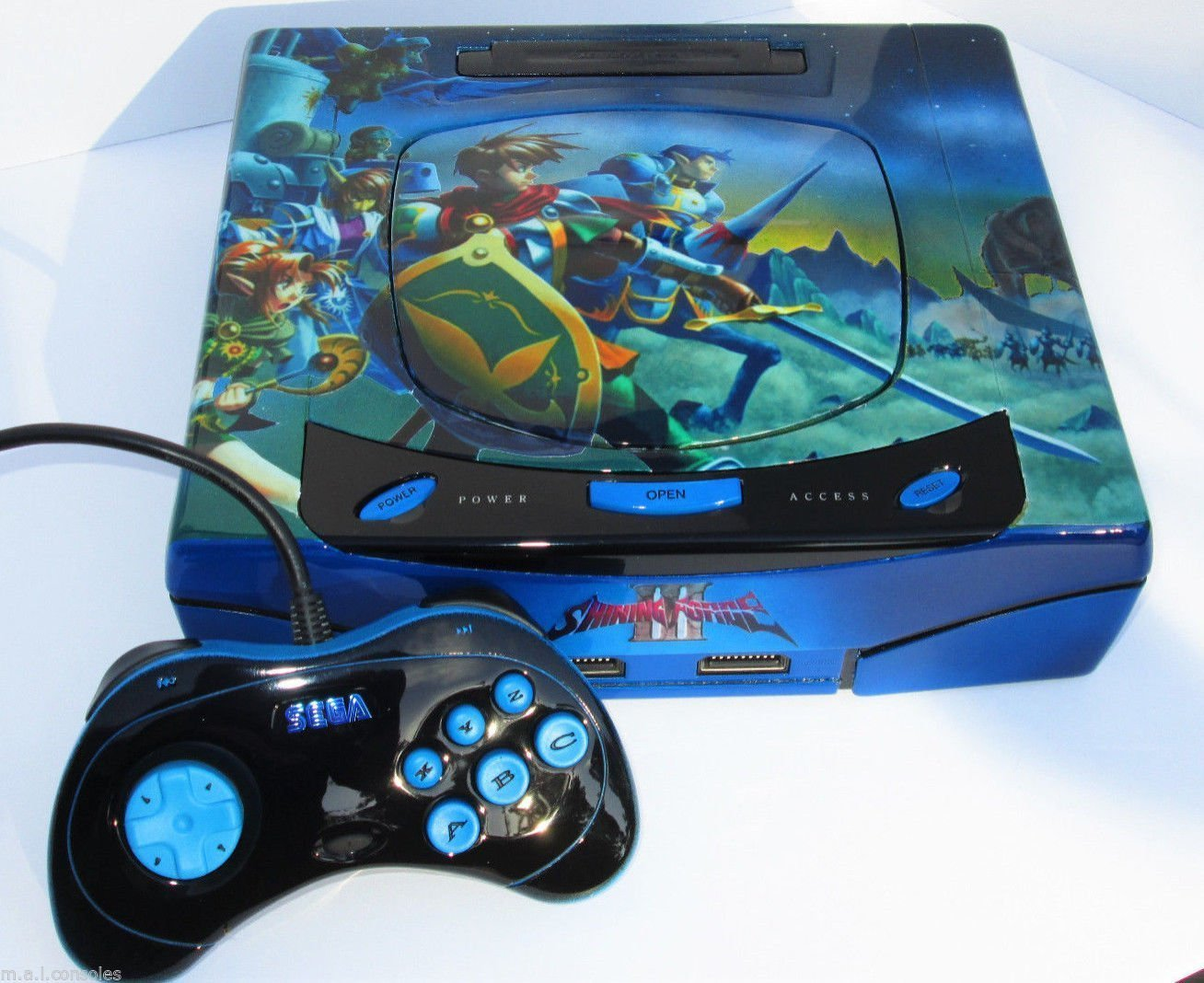 Sega Saturn Shining Force III MAL Custom Saturn Game Console