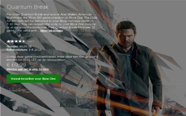 Quantum Break Will Take Up A Lot OF Space On Your Xbox One #GTUSA 1