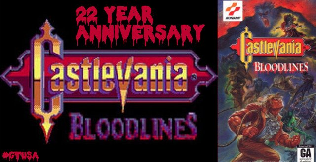 Castlevania: Bloodlines Turns 22 Years Old Today #GTUSA 1