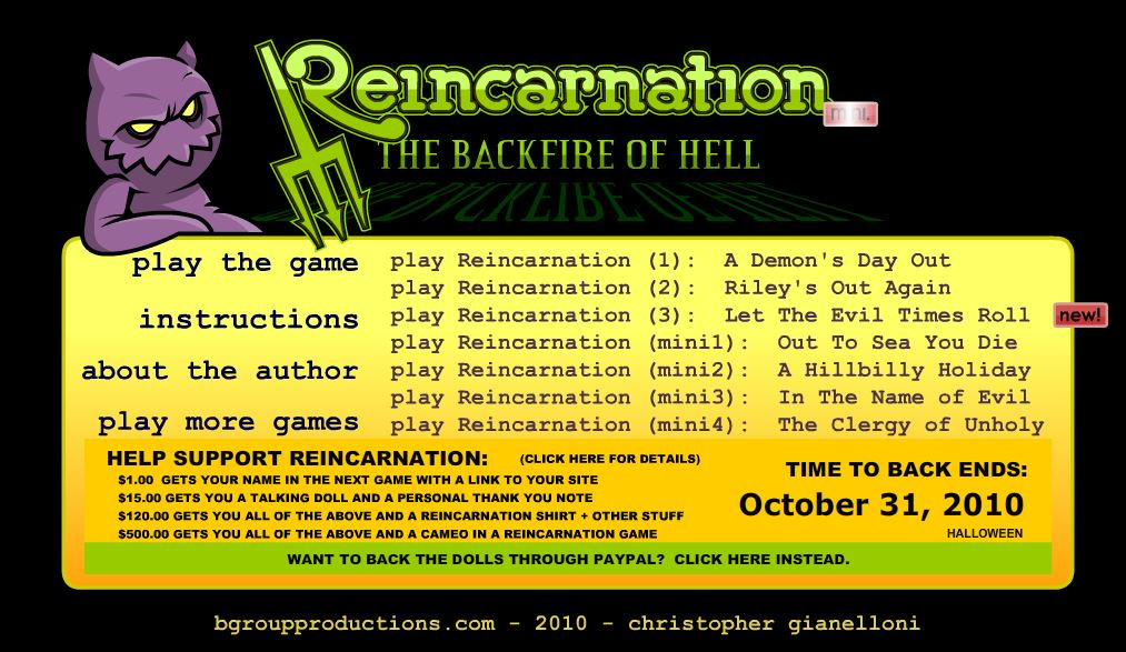 Reincarnation: The Backfire Of Hell - #GTUSA 1