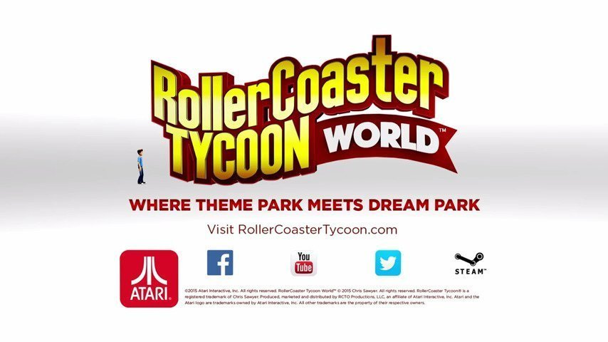 RollerCoaster Tycoon World™ Releases Today On Steam - #GTUSA 1