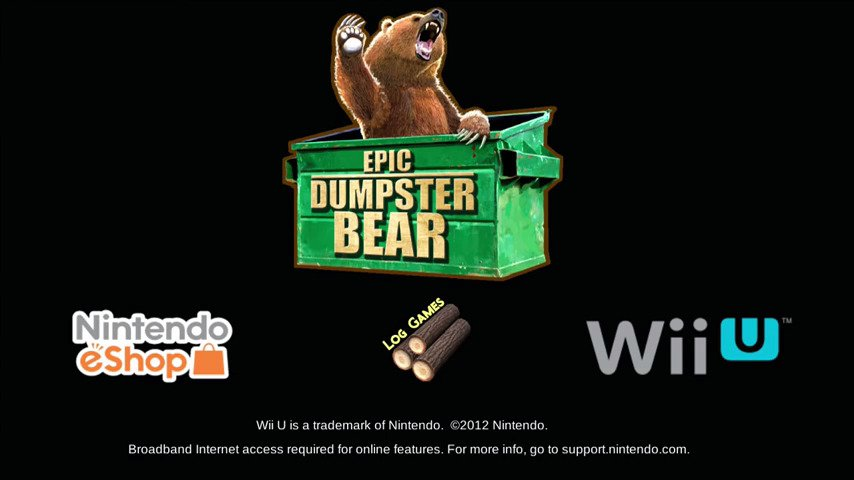 Epic Dumpster Bear Out Today On Wii U - #GTUSA 1