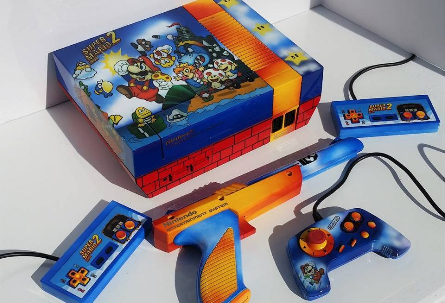 The Most Beautiful Custom Super Mario 2 Themed NES Ever!