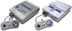 The Japanese Super Famicom (Left) and the North American SNES (Right)