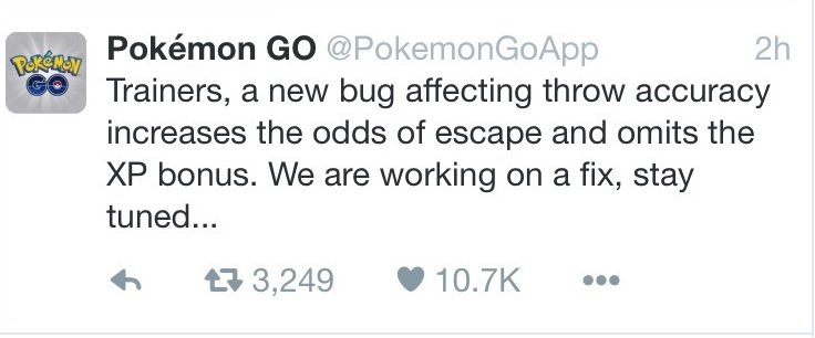 pokemon go update accuracy pogo