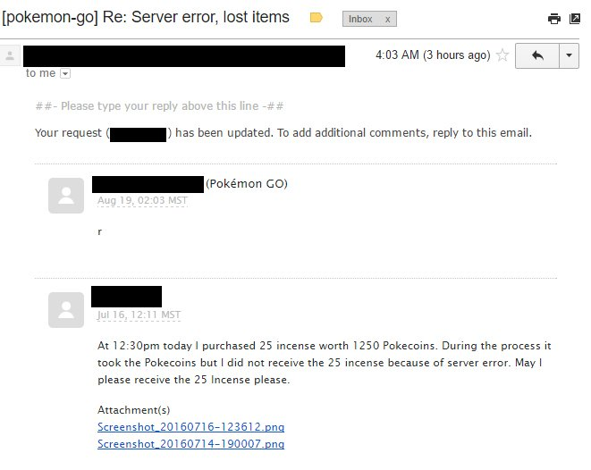 Niantic Customer service r email