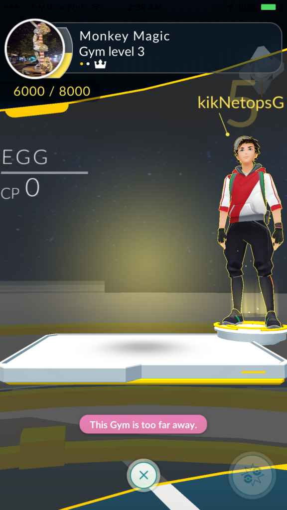 Players in NYC have confounded the gym system by leaving unbeatable eggs.