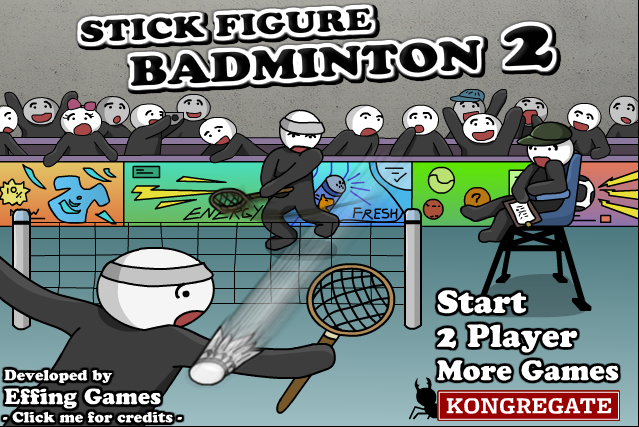 Stick Figure Badminton 2 - #GTUSA 1