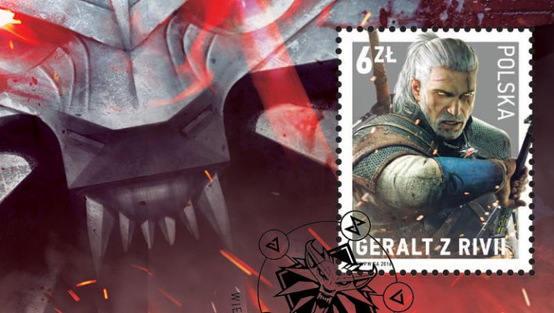 Witcher Geralt Ploand Postage Stamp - #GTUSA 2