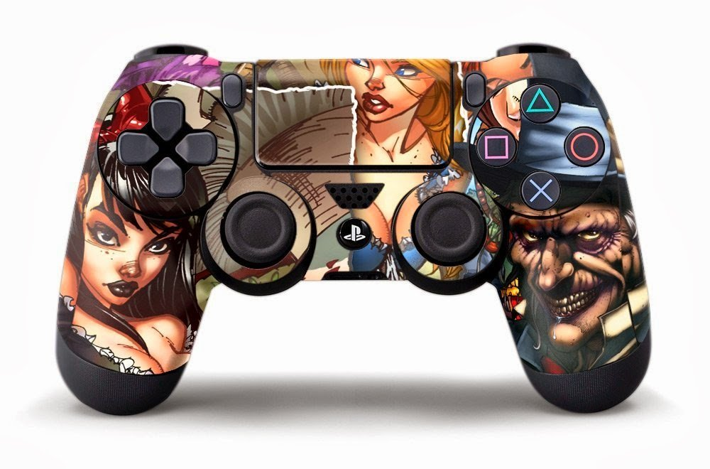 Custom Modded PS4 Controllers - #GTUSA 7
