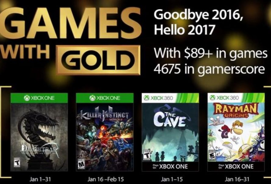 Microsoft's Games with Gold for January Announced