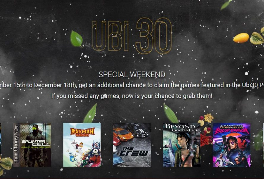 "Second Chance At All 7 Games Of The ""UBI30"" Giveaway"