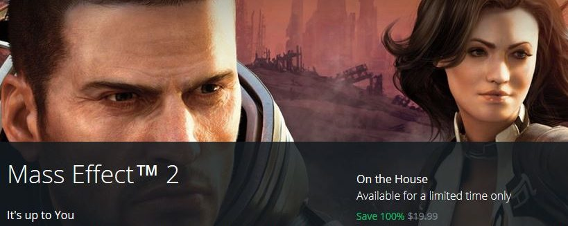 """Origin Is Giving Away """"Mass Effect 2"""" On The House"""