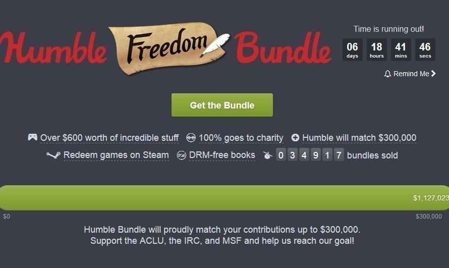 47 Game & Book Humble Freedom Bundle Supports The ACLU