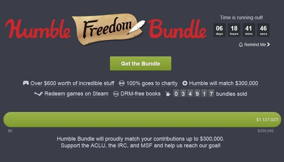 47 Game Humble Freedom Bundle - #GTUSA 1
