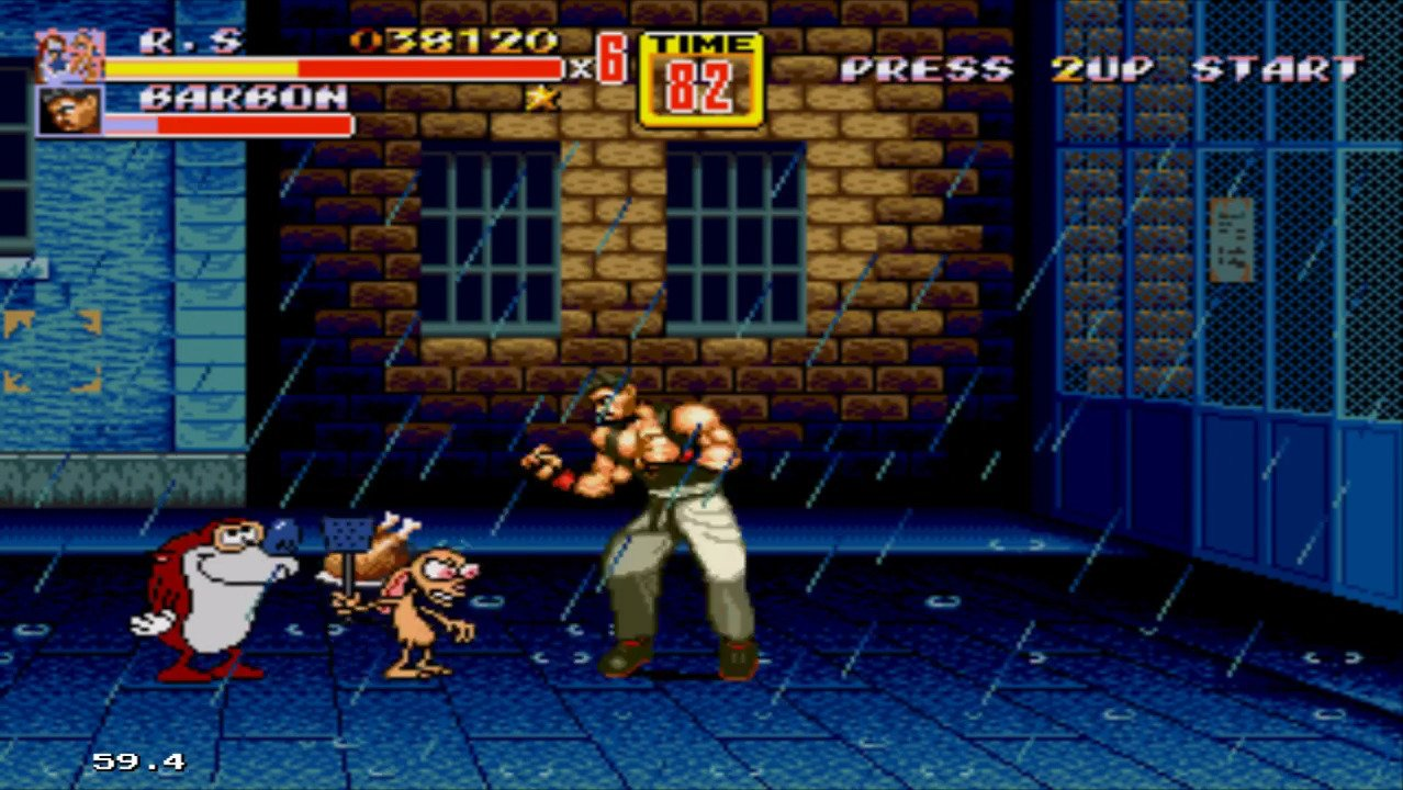 Ren & Stimpy in Streets of Rage 2 - #GTUSA 3