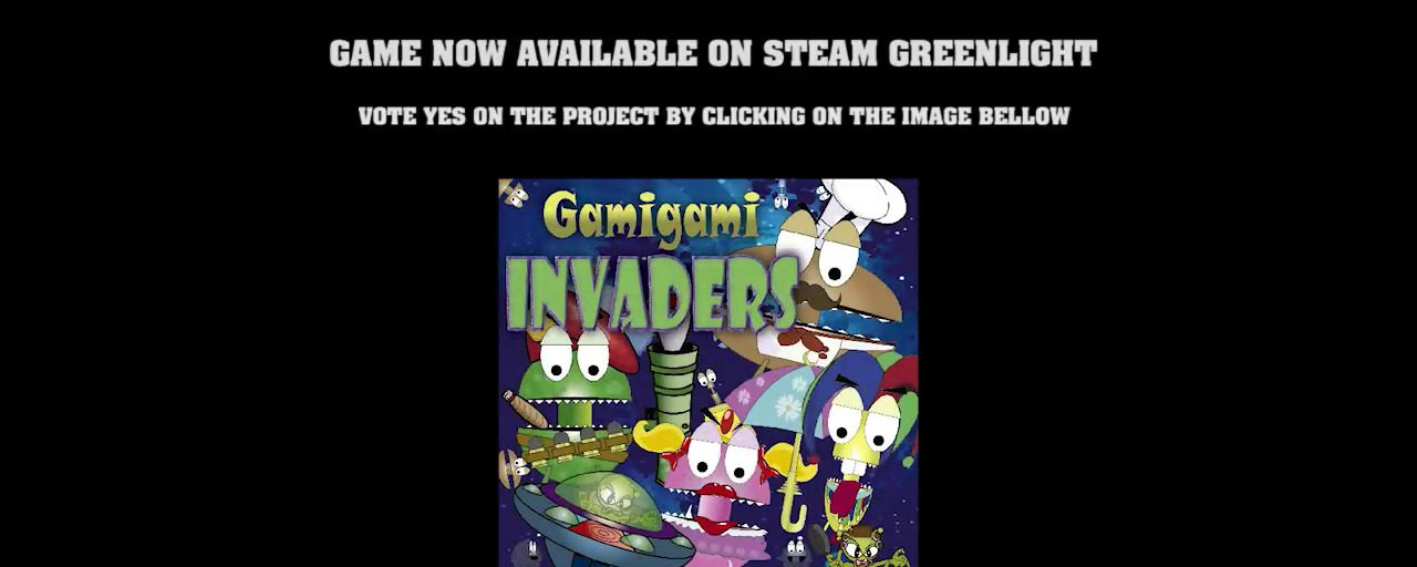 """Gamigami Invaders"" Hits Steam Greenlight – Very Innovative Invader Style Game"