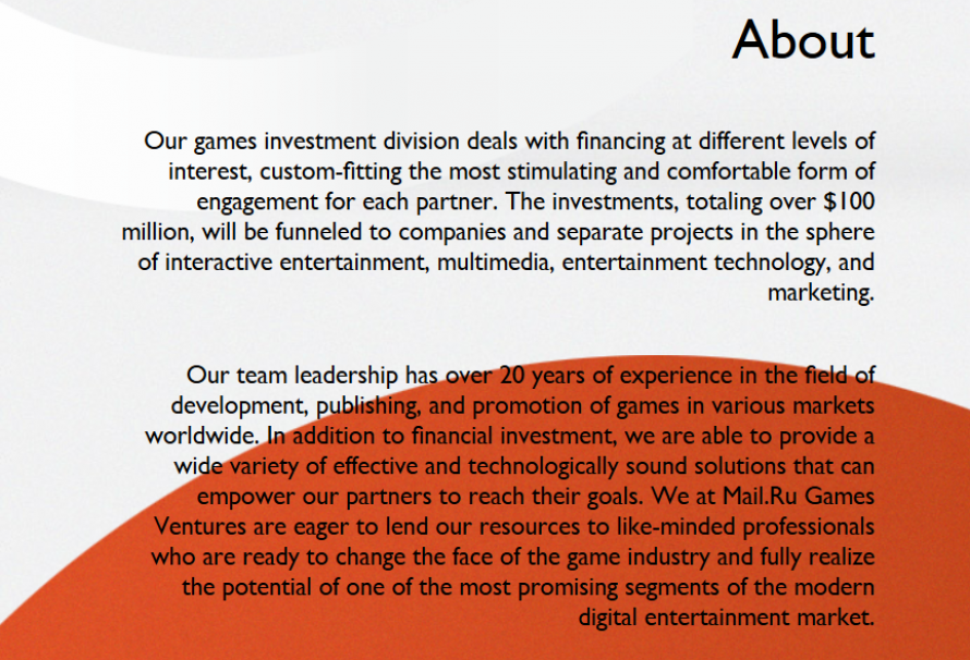 Mail.Ru Announces up to $100 Million for Investment Division for Games Development