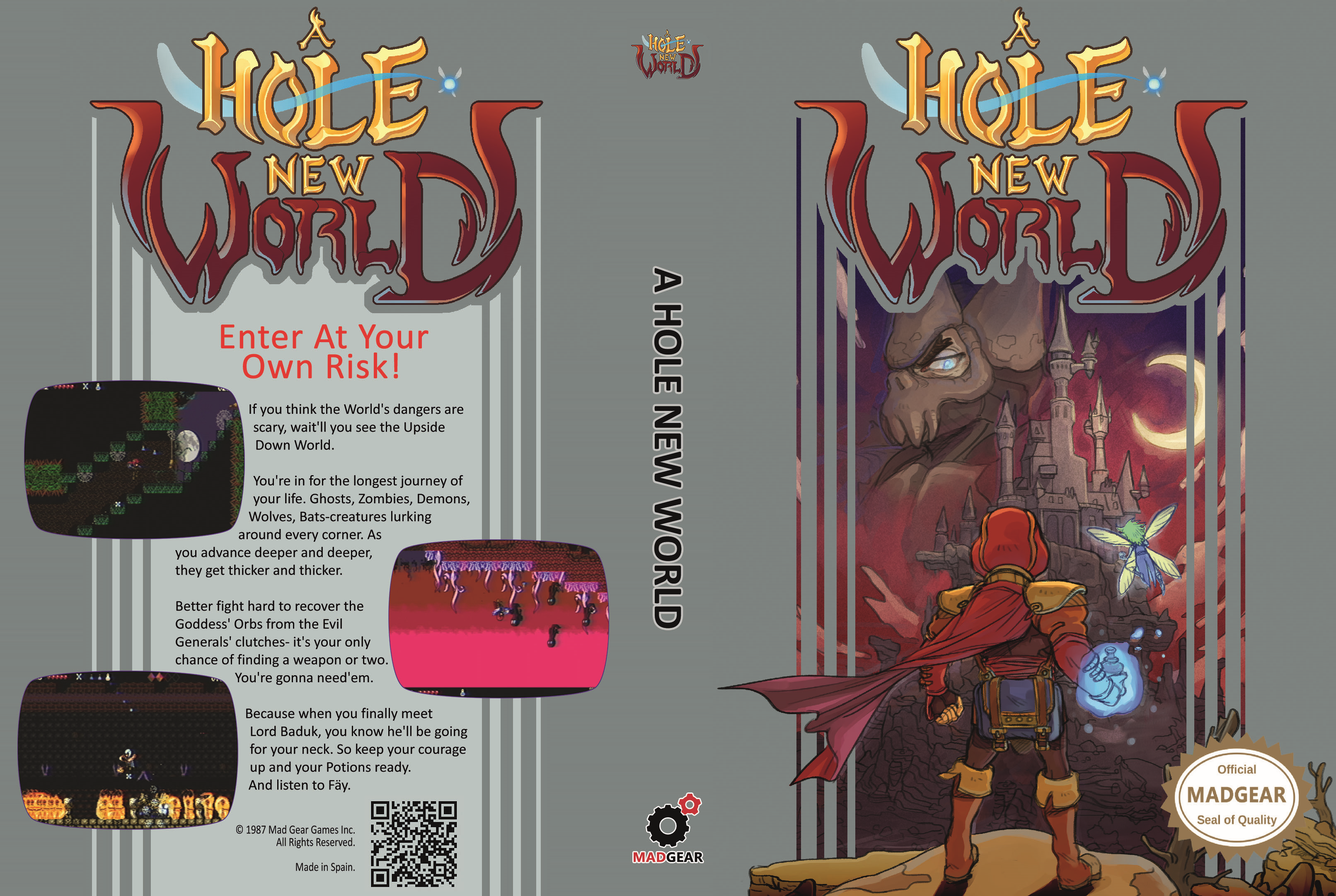 """A Hole New World"" Free NES Cartridge - #GTUSA 1"