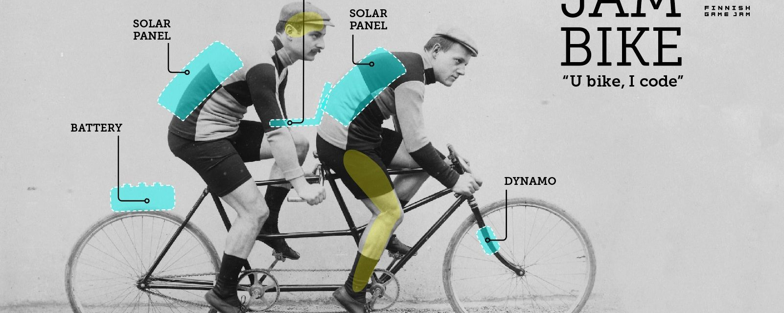 2 Dev's On A Tandem Bike Create A Game With Solar Power