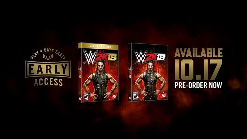 2K Announces Seth Rollins as the WWE® 2K18 Cover Superstar - #GTUSA 1