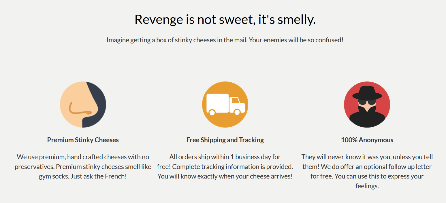 This New Website Ships Stinky Cheese Anonymously - #GTUSA 2