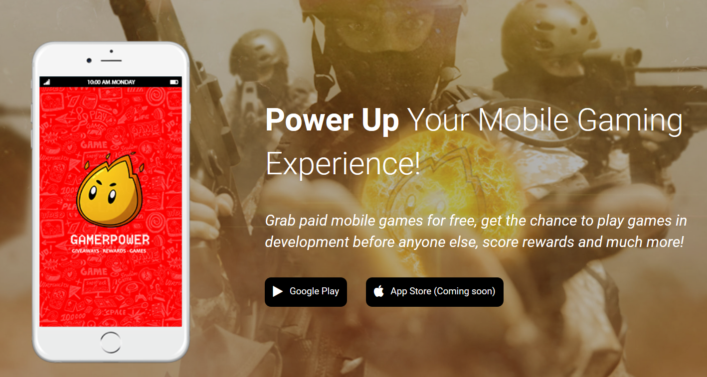 GamerPower brings YOU Free Mobile Gaming Goodies With New App - #GTUSA 2