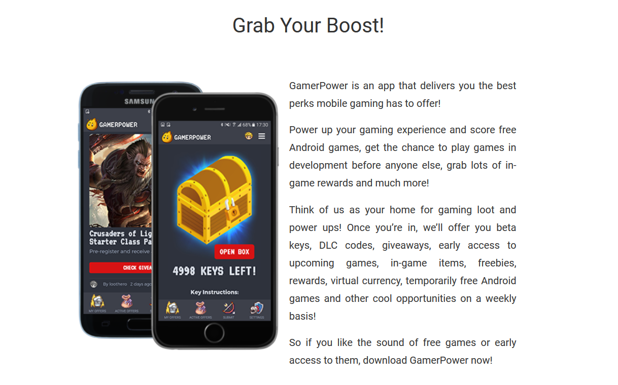 GamerPower brings YOU Free Mobile Gaming Goodies With New App - #GTUSA 1