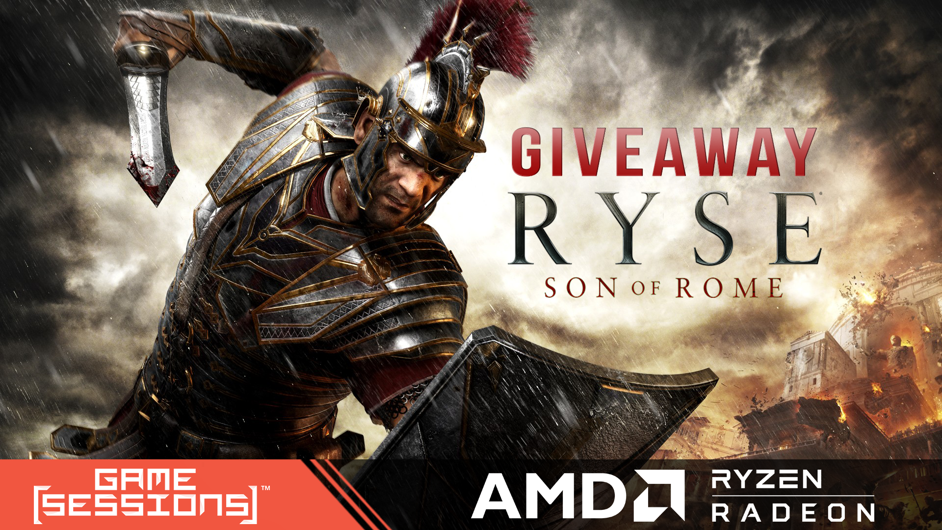 GameSessions Giveaways Launches with RYSE: Son of Rome - #GTUSA 1