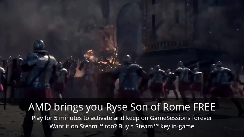 GameSessions Giveaways Launches with RYSE: Son of Rome - #GTUSA 2