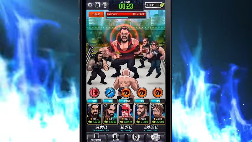 WWE® TAP MANIA NOW AVAILABLE ON MOBILE DEVICES - #GTUSA 3