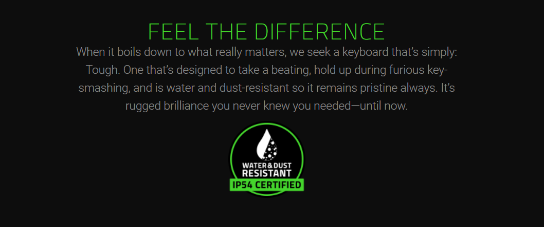 The Razer Blackwidow Ultimate Is Element Resistant - #GTUSA 2
