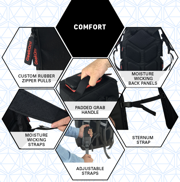GeekOn! Comfort designs for the Ultimate Boardgame Backpack
