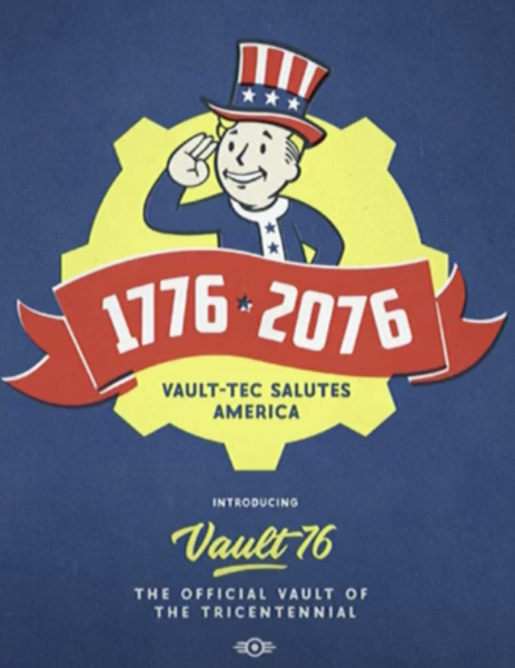 FALLOUT 76 TRICENTENIAL COVER, All Rights to Bethesda.